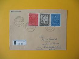 Luxembourg  1958  Enveloppe Recommandé Pour La France   N° 542 à 444       à Voir - Marcofilie - EMA (Print Machine)