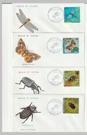 FDC - Wallis & Futuna -  N°185/8 (1974) Insectes - FDC