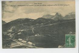 LES ALPES - Ouvrages Et Baraquements Du Gondran , Vue Prise De La Route Conduisant Au Fort Du Janus - Autres Communes