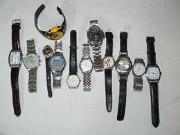 Lot De 12 Montres, Pour Pièces Ou à Réparer. - Watches: Modern