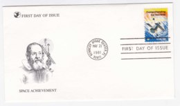AK91 1981 First Day Of Issue, Space Achievement, Kennedy Space Center - First Day Covers (FDCs)
