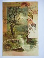 LES QUATRE  SAISONS  -  LOT DE 4 CARTES     ILLUTRE  PAR GUGGENBERGER       .......    TTB - Postcards