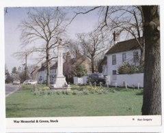 AK94 War Memorial And Green, Stock - Vintage Cars, Van - England