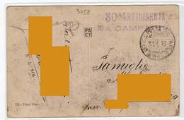 1916 - 1gm Ww1 - 30° Artiglieria Da Campagna  - Posta Militare - Franchigia -. Guglielmo Oberdan Storia Postale - 1900-44 Vittorio Emanuele III