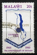 Malawi 1980 Single 20t Stamp From The 75th Anniversary Of The Rotary Set. - Malawi (1964-...)