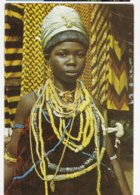 AK94 Girl In Traditional Attire, Krobo, Ghana - Posted From Nigeria, Courrier Des Marins, Seamen's Mail - Ghana - Gold Coast