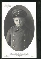 AK Prinz Friedrich Von Preussen In Feldgrau - Familles Royales