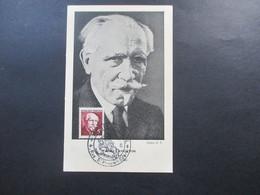 Frankreich 1949 Nr. 831 MK Paul Langevin SST Musee Postal Paris Les Maximaphiles Francais Imprime - France