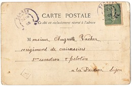 ARDECHE CP 1905 SARRAS + BOITE URBAINE A ( CERTAINEMENT LA MAIRIE ) - Poststempel (Briefe)