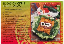 RICETTE - RECIPES - TEXAS CHICKEN ENCHILADAS - 1997 - Vedi Retro - Ricette Di Cucina
