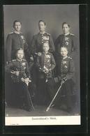 AK Deutschland`s Stolz, Königliche Familie In Uniformen Mit Orden - Familles Royales