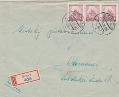 Bohême Et Moravie Lettre Recommandée Brno 1939 - Bohême & Moravie