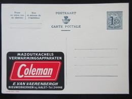 ENTIER CP PUBLIBEL 1550 . COLEMAN . MAZOUTKACHELS . AALST   NEUF - Publibels