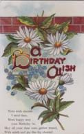 AQ32 Greetings - A Birthday Wish - Dog Daisies, Forget Me Nots - Birthday