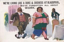AQ32 Comic/humour - Living Like Duke & Duchess At Blackpool - Signed AE - Humor