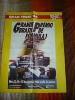 F1 POSTER RIO DE JANEIRO ALAIN PROST MCLAREN GP 84 F.TO 55X80 AUTOSPRINT - Automobilismo - F1