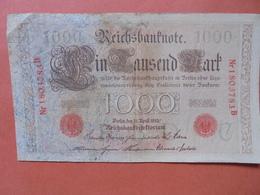 """Reichsbanknote 1000 MARK 1910 CACHET ROUGE ALPHABET """"C"""" (B.4) - [ 2] 1871-1918 : German Empire"""