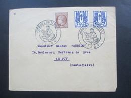 Frankreich 1946 Sonderstempel Journee Du Timbres Dijon Freimarken Wappen Nr. 577 U. Ceres Nr. 688 MiF - France