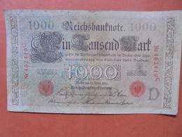 """Reichsbanknote 1000 MARK 1910 CACHET ROUGE ALPHABET """"D"""" (B.4) - [ 2] 1871-1918 : German Empire"""