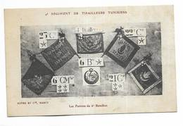 MILITARIA - 4° Régiment De Tirailleurs Tunisiens - Les Fanions Du 6° Bataillon. Ecrite De Landau En 1920 - Régiments