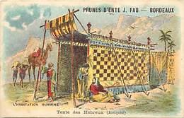 - Chromos-ref-chA37- J. Fau - Rue Du Jardin Public - Bordeaux - Gironde - Prunes D Ente / Tente Des Hebreux - - Autres