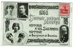 Octobre 1914 - Souvenir National Historique - Hommage à Nos Souverains, Au Bourgmestre De Bruxelles - 2 Scans - Patriottisch