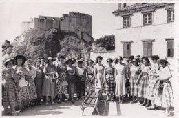 AR30 Photograph - Large Group Of Ladies By A Castle - Dubrovnik Photographer - Anonymous Persons
