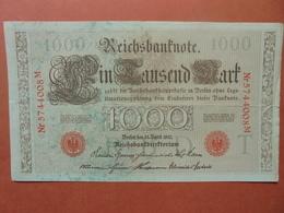 """Reichsbanknote 1000 MARK 1910 CACHET ROUGE ALPHABET """"T"""" (B.4) - [ 2] 1871-1918 : German Empire"""