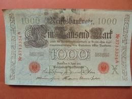 """Reichsbanknote 1000 MARK 1910 CACHET ROUGE ALPHABET """"X"""" (B.4) - [ 2] 1871-1918 : German Empire"""