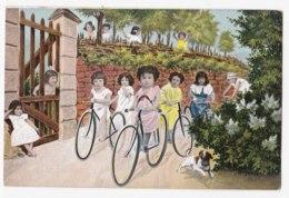 AK93 Children - Multiple Babies On Bicycles - Babies