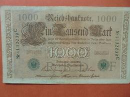 """Reichsbanknote 1000 MARK 1910 CACHET VERT ALPHABET """"F"""" (B.4) - [ 2] 1871-1918 : German Empire"""