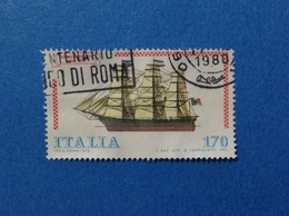 1979 ITALIA FRANCOBOLLO USATO STAMP NAVE COSTRUZIONI NAVALI COSMOS - 1971-80: Usati