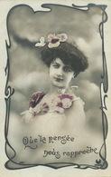 Art Nouveau Belle Femme Aux Papillons Butterfly  Edit Croissant Envoi Angelique Courteau Lavillatte Le Chatelet En Berry - Vlinders