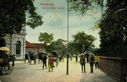 China, HONG KONG, Queens Road Central, Rickshaw (1910s) Postcard - China (Hong Kong)