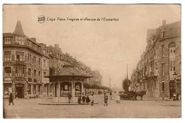 Liège - Place Fragnée Et Avenue De L'exposition - Circulée - Edit. Butenaers - 2 Scans - Liege