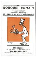 Au Bouquet Romain - Glacier - Bruxelles / Blankenberghe - Illustr. Willis - 2 Scans - Werbepostkarten