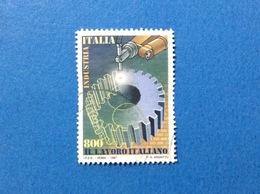 1997 ITALIA FRANCOBOLLO USATO STAMP LAVORO ITALIANO INDUSTRIA 800 - 6. 1946-.. Repubblica