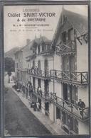 Carte Postale 65. Lourdes  Chalet Saint-Victor  & De Bretagne Mme Veronnet Cumunel Prop.   Très Beau Plan - Lourdes