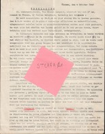Tienen, Tirlemont, Officiële Verklaring Over Krijgsgevangen Genomen Door Duitse Bezetter, Op 4 Oktober 1945, COLLECTORS! - Documents Historiques