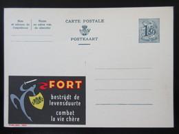 ENTIER CP PUBLIBEL 1634 . FORT . COMBAT LA VIE CHERE.   NEUF - Publibels
