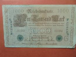 """Reichsbanknote 1000 MARK 1910 CACHET VERT ALPHABET """"G"""" (B.4) - [ 2] 1871-1918 : German Empire"""
