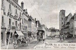 DIJON ( 21 ) - Vue De La Place St Jean . - Dijon