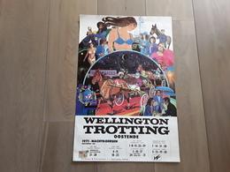 AFFICHE AFMETINGEN 68 CM OP 45 CM WELLINGTON TROTTING OOSTENDE 1971 - Afiches