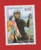 Polynésie Française 2015 °° 1079 Métiers Le Pêcheur (Wp10) - Polynésie Française