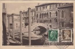 VENEZIA-FONDAMENTA MALCANTON-CARTOLINA NON VIAGGIATA -OBLITERATA IL 17-4-1930 - Venezia (Venedig)