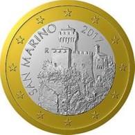 San Marino 2019  1 Euro  UNC Uit De Rol - UNC Du Rouleaux . - San Marino
