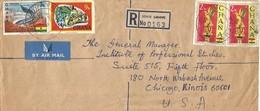Ghana 1969 Sovie Volta Region Chameleon Registered Cover. Rare Small Post Office - Ghana (1957-...)