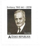** Private Stamp Czech Republic Prof. Viktor Felber, Executed By Nazis 2016 Zwittau - WW2