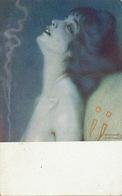 Drogue Opium Addiction  Lélie , Fumeuse D' Opium Signée Raphael Kirchner Art Nouveau - Santé
