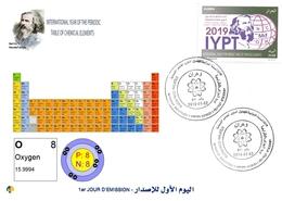 DZ Algeria 1836 2019 Anno Internazionale Della Tavola Periodica Degli Elementi Chimici Dmitry Mendeleev Chimica Ossigeno - Chimica